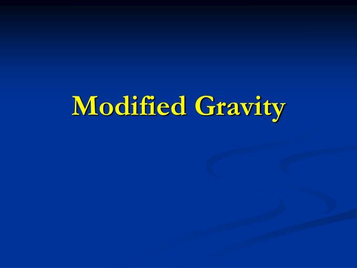 modified gravity n.