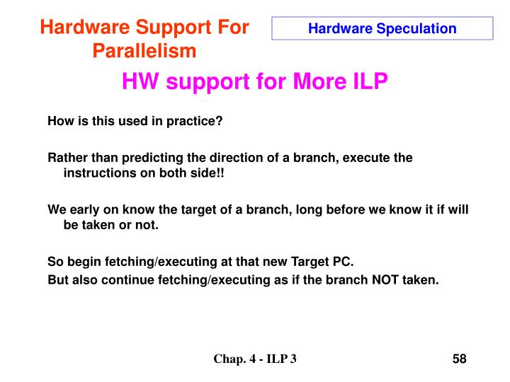 Hardware Support For Parallelism