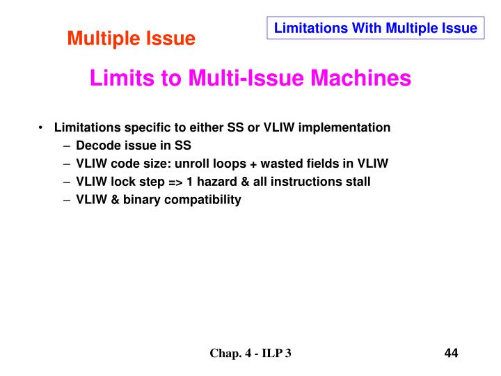 Multiple Issue