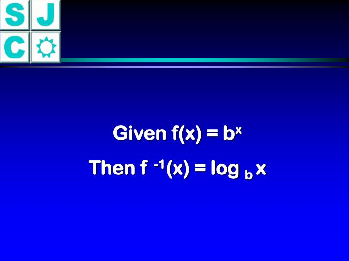 Given f(x) = b