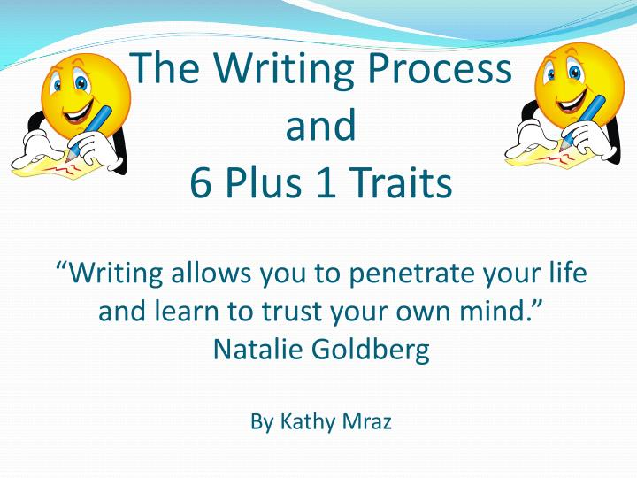 6 plus 1 writing traits I highly recommend reading ruth culham's book: 6+1 traits of writing to enhance your teaching of writing to elementary age students the following links are examples.