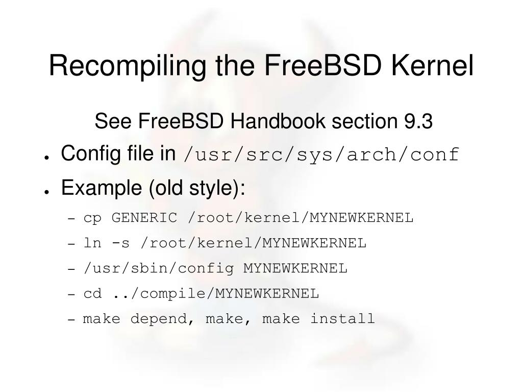 PPT - Introduction to FreeBSD Additional Topics PowerPoint