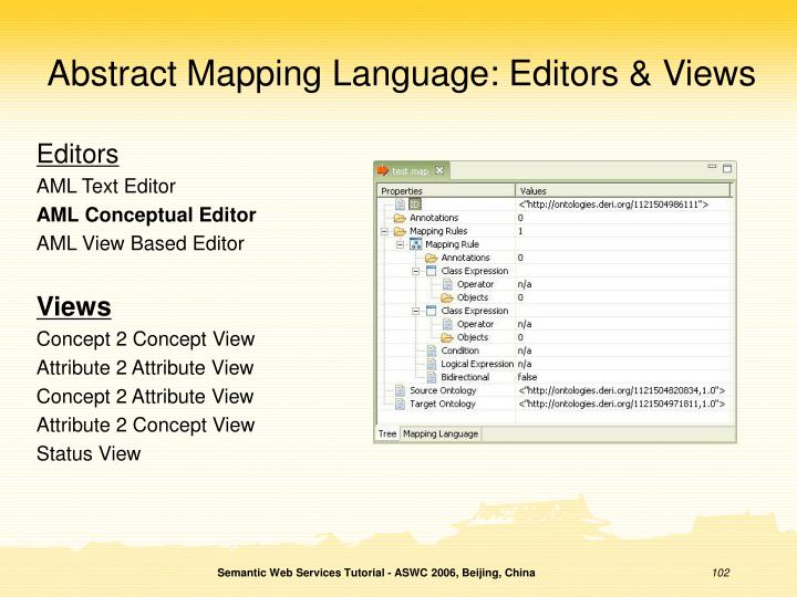 Abstract Mapping Language: Editors & Views
