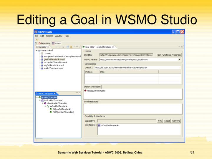 Editing a Goal in WSMO Studio