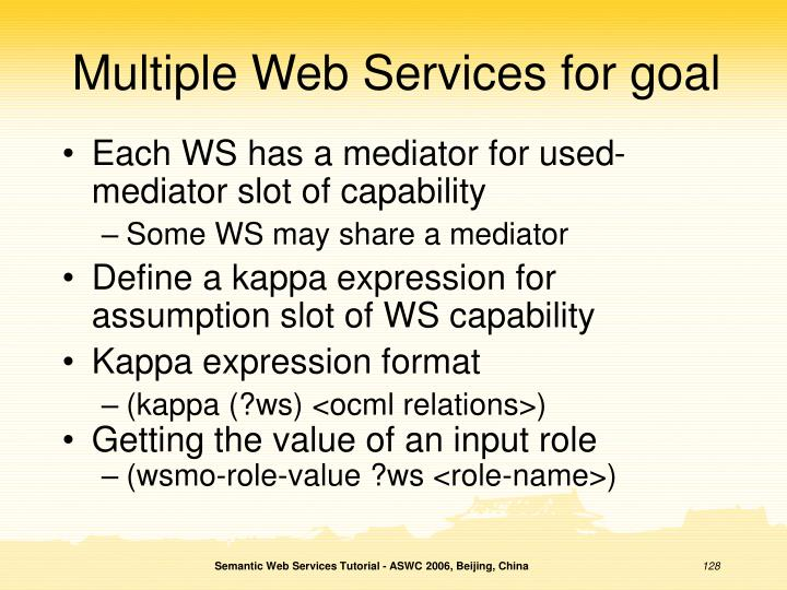 Multiple Web Services for goal