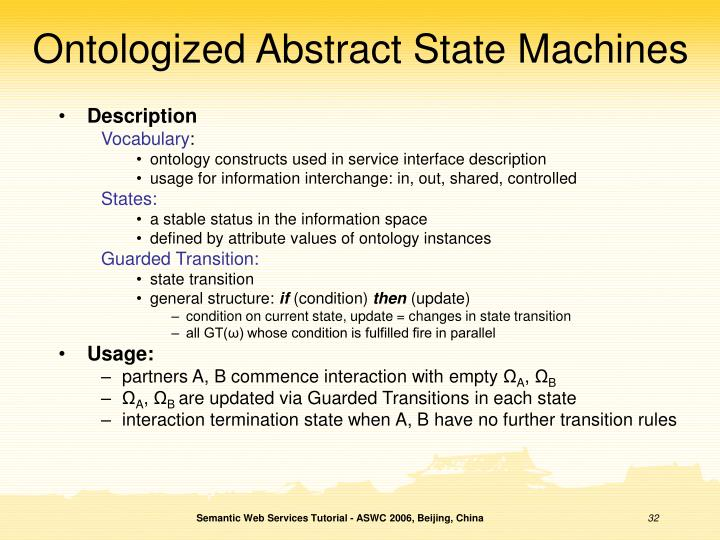 Ontologized Abstract State Machines
