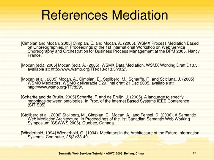References Mediation