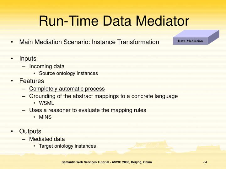 Run-Time Data Mediator