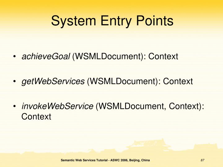 System Entry Points