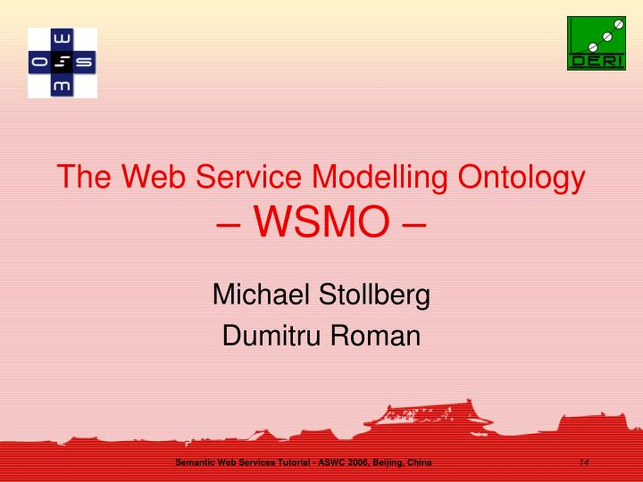 The Web Service Modelling Ontology