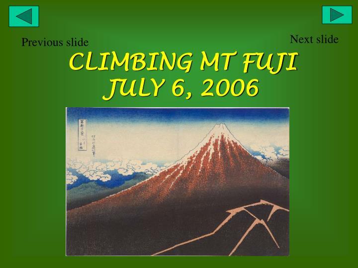 climbing mt fuji july 6 2006 n.