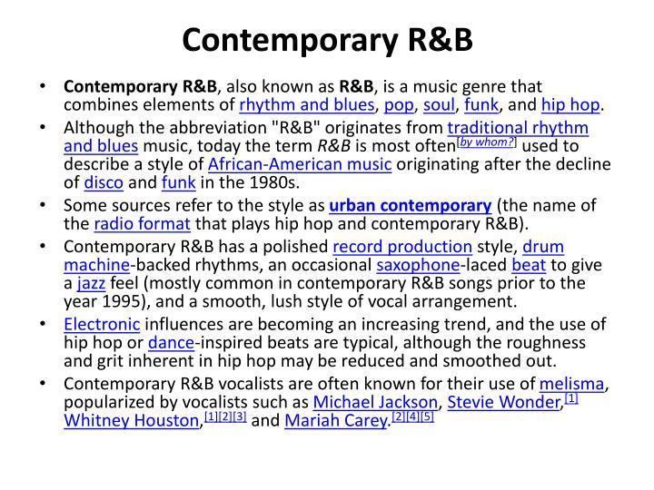 Contemporary R&B